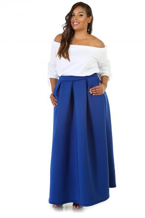 Scuba Maxi Flare Skirt