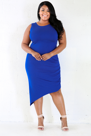 Cross Crossed Bodycon Midi Dress