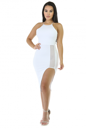 Eyes on Destiny Mini Stretchy Dress