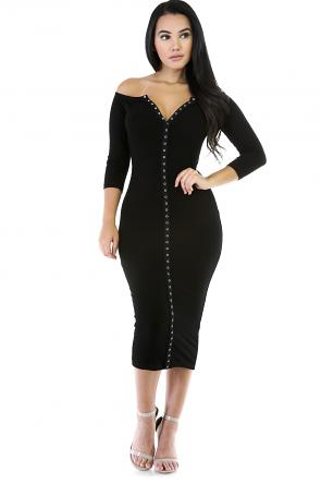 Kimyay Midi Stretchy Dress