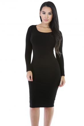 Midi Bodycon Stretch Dress