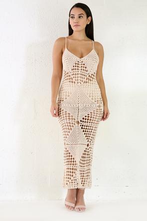 Knit Crochet Maxi Dress