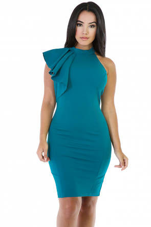 Side Bow Bodycon Dress