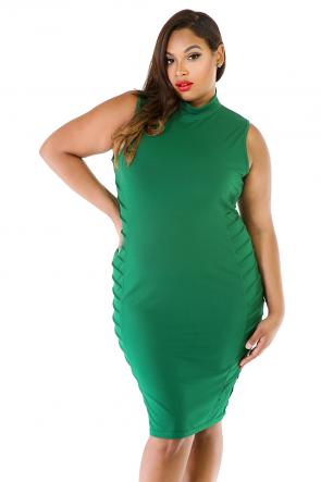 Turtle Neck Bodycon Mini Dress