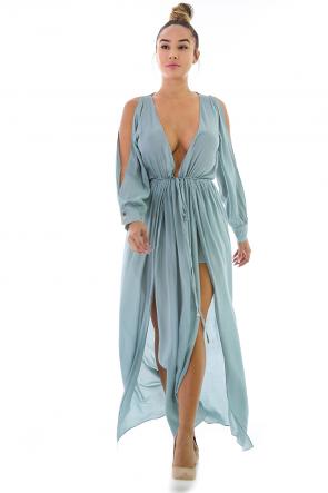 Classy Maxi V-Neck Dress