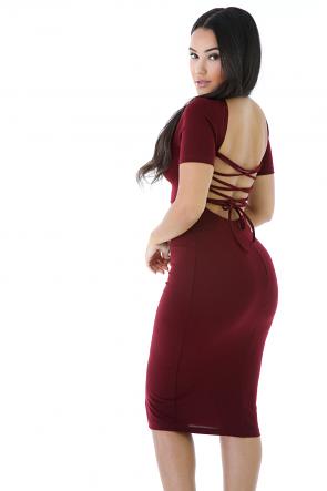 Plunging V-Neck Dress