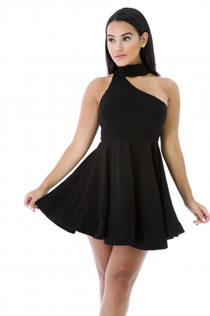 Choker Flare Dress