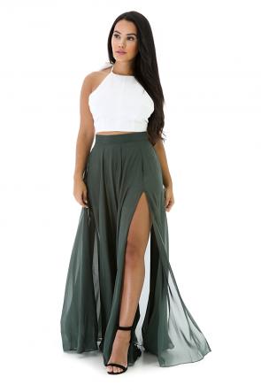 Silk Chiffon Skirt