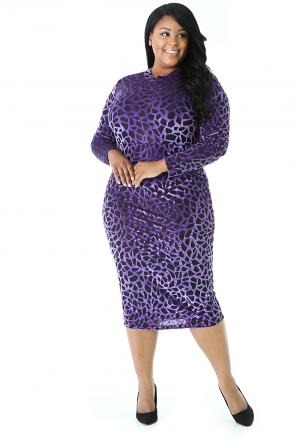 Velvet Mesh Dress