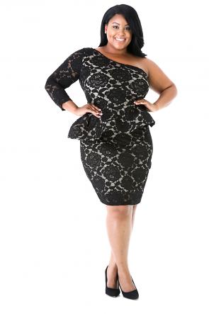 One Shoulder Lace Dress