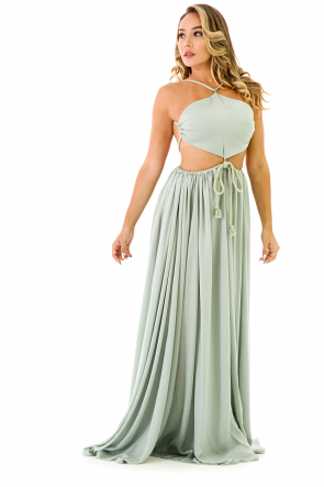 Tie Around Maxi Dress