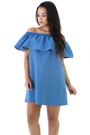 Flare Denim Dress