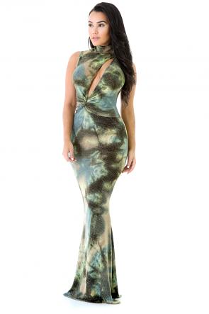 Aquarius sleeveless Maxi Dress