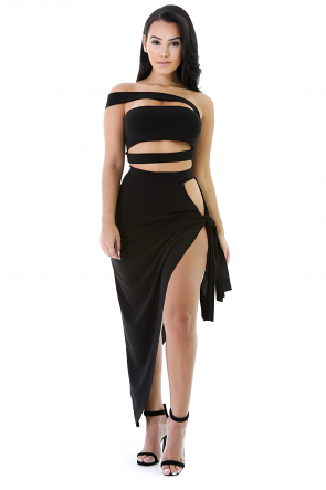 Off Shoulder Skirt Set