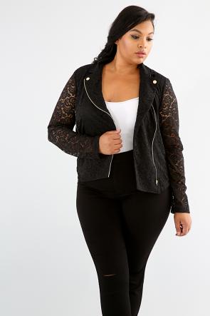 Lace Zipper Jacket