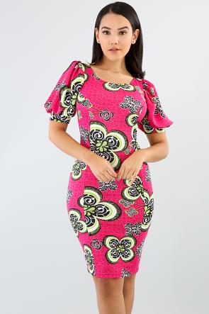 Puffy Sleeve Bodycon Dress