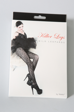 Killer Legs Wild Leopards Fishnet Pantyhose