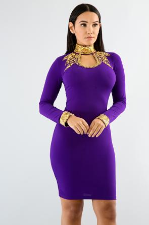 Rhinestone Gala Dress