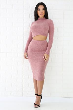 Wool Skirt Set