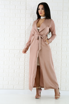 Silk Sheer Trench Coat