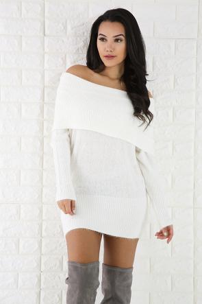 Wool Cowl Neck Sweater Tunic