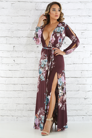 Fall Blooming Maxi Dress