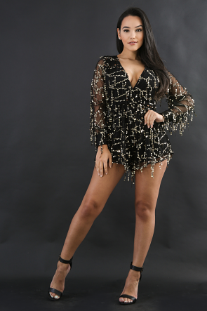 Dangle Sequin Romper