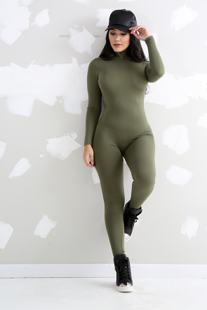 Long Sleeve Turtleneck Jumpsuit