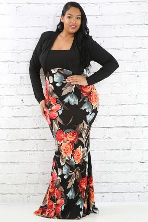 Floral Two Piece Maxi Dress