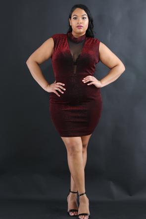 Shimmer Spice Bodycon Dress