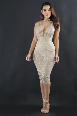 Sparkle Sheer Dress