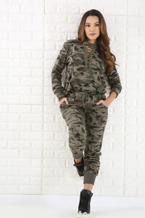 Camouflage Jogger Pant Set