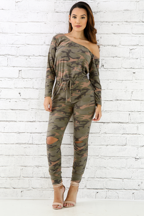 Camo Destroyed Jumper