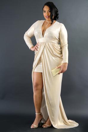 Golden Shine Maxi Dress