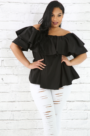 Off Shoulder Flare Top