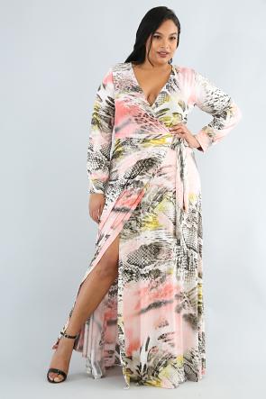 Marbleized Maxi Dress