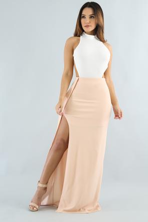 Two Tones Maxi Dress