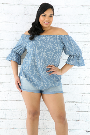 Paisley Off Shoulder Top