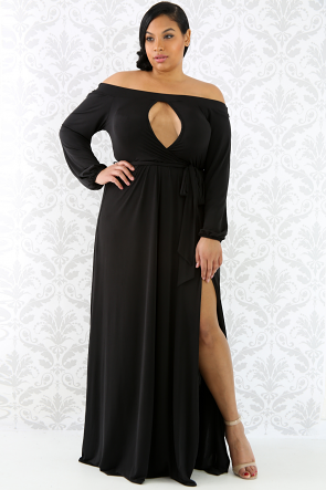 Allure Off Shoulder Maxi Dress