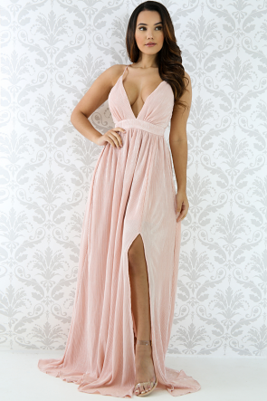 Shine Ruched Maxi Dress