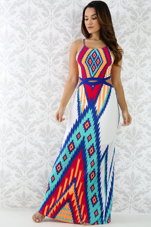 Aztec Summer Maxi Dress