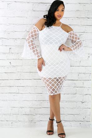 Boxed Off Shoulder Dress