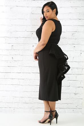 Back Tail Lace Dress