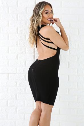 Strap Back Elegant Dress