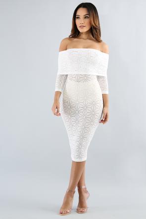 Off Shoulder Baroque Dress