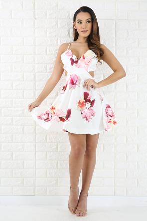 Garden Floral Flare Dress