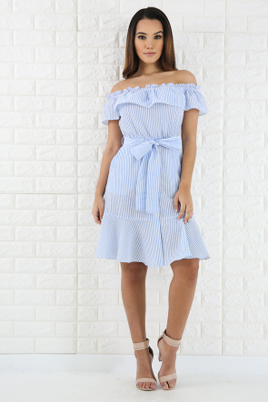 Sweet Striped Flare Dress