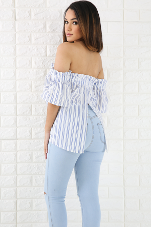 French Tier Stripe Top