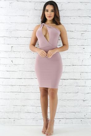 Slayed Shoulder Dress