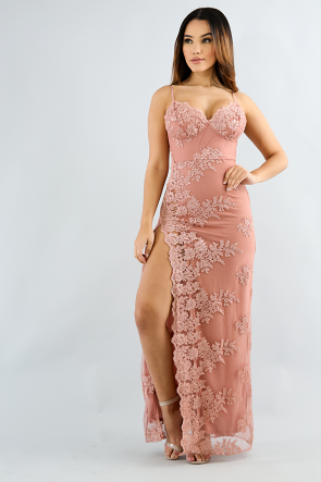 Princess Embroidery Maxi Dress